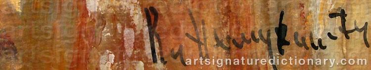 Signature by Vladimir Nikolaevich NEMUKHIN