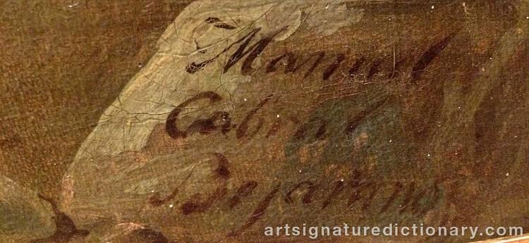 Signature by Manuel CABRAL AGUADO Y BEJARANO