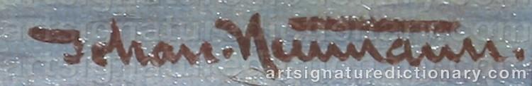 Signature by Johan Jens NEUMANN