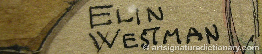 Signature by Elin WESTMAN