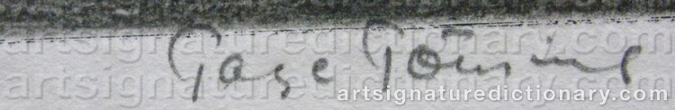 Signature by Tage TÖRNING