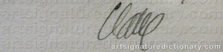 Signature by Antoni CLAVÉ