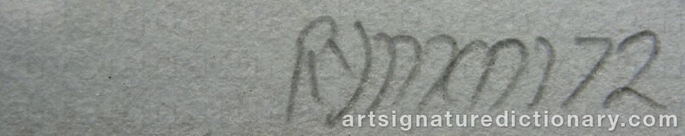 Signature by Robert RYMAN