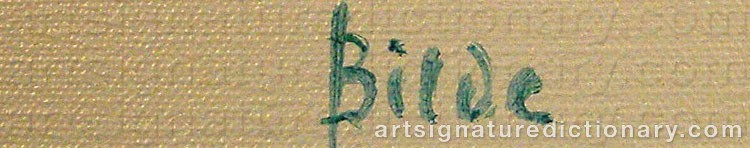 Signature by Max BILDE