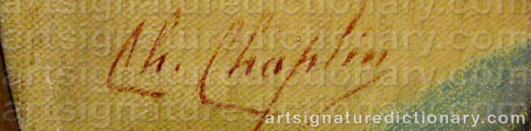 Signature by Charles CHAPLIN