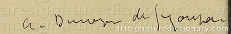 Signature by André Albert Marie DUNOYER DE SEGONZAC