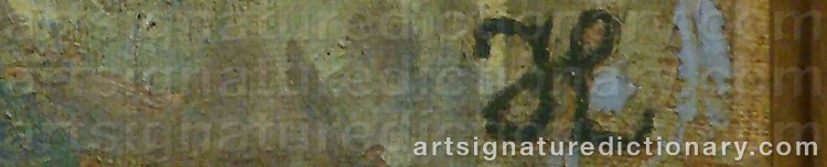 Signature by Johannes LARSEN