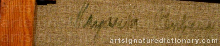 Signature by Margareta RENBERG