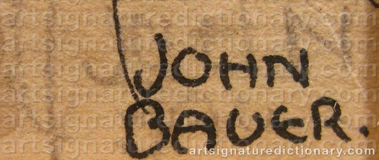 Signature by John BAUER
