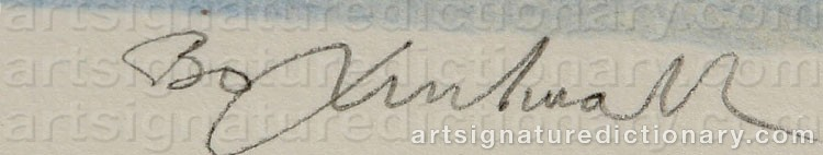 Signature by Bo LUNDWALL