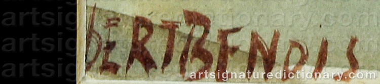 Signature by Albert Nikolaievich BENOIS