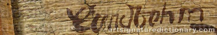 Signature by Sixten 'Sl' LUNDBOHM