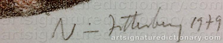 Signature by Nils 'Nisse' ZETTERBERG