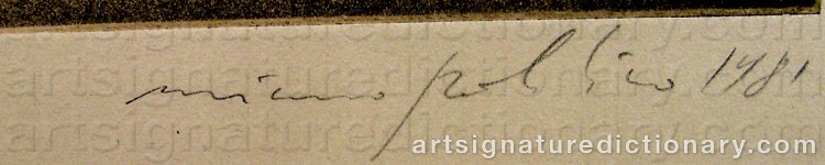 Signature by Mimmo PALADINO