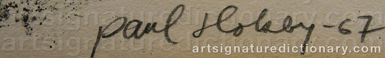 Signature by Paul HOLSBY