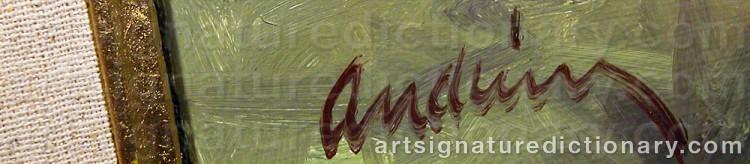 Signature by Bengt Olof ANDRÉEN
