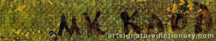 Signature by Mikhail Konstantinovich KLODT VON JURGENSBURG