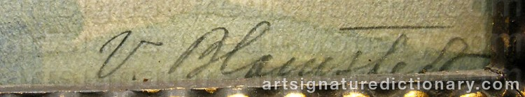 Forged signature of Väinö BLOMSTEDT