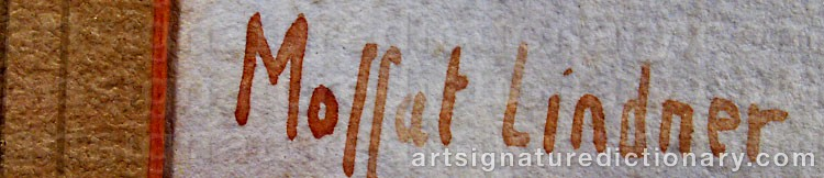 Signature by Moffat Peter LINDNER