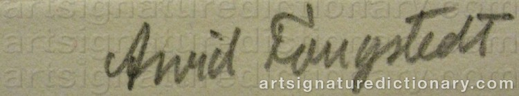 Signature by Arvid FOUGSTEDT
