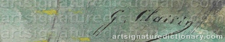 Signature by Georges Jules Victor CLAIRIN