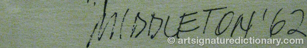 Signature by Sam MIDDLETON