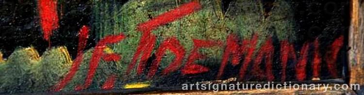 Signature by Janis Ferdinands TIDEMANIS