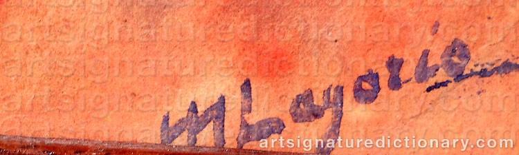 Signature by Maria Alexandrovna LAGORIO