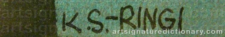 Signature by Kjell RINGI