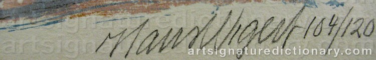 Signature by Hans WIGERT