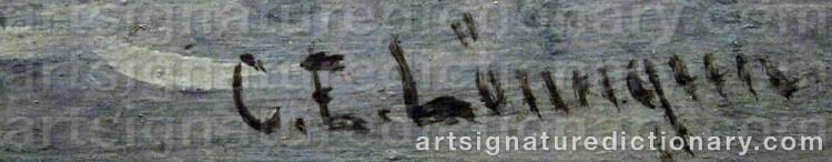 Signature by Carl Ewald LÖNNGREN