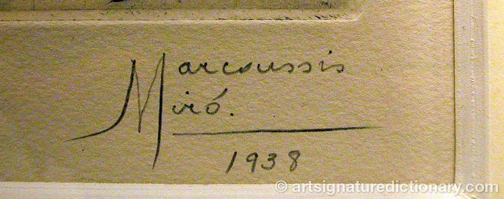 Signature by Louis MARCOUSSIS