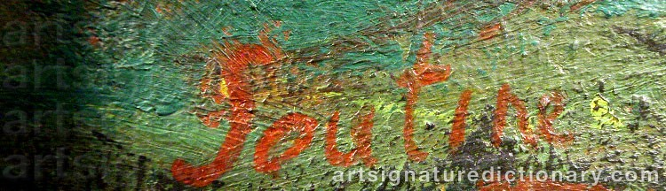 Forged signature of Chaim SOUTINE