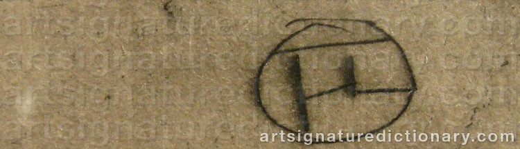Signature by Henri De TOULOUSE-LAUTREC