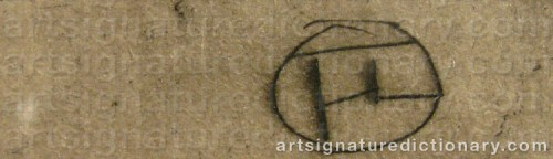 Signature by: TOULOUSE-LAUTREC, Henri De