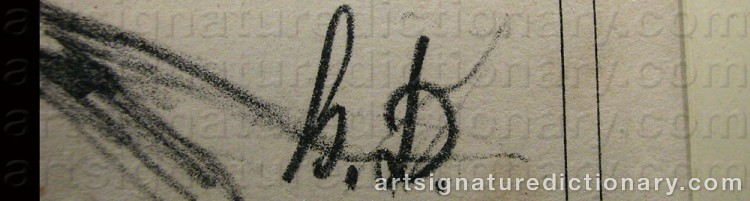 Signature by Honoré DAUMIER
