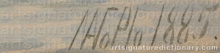 Signature by Lev Feliksovich LAGORIO
