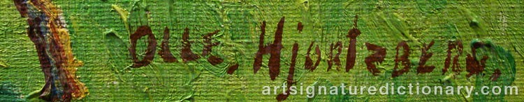 Forged signature of Olle HJORTZBERG