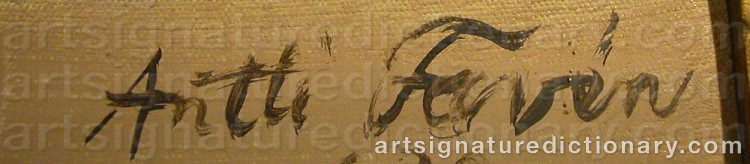 Signature by Antti FAVÉN