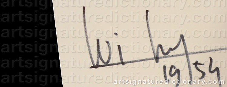 Signature by Wifredo LAM