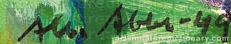 Signature by Albert ABBE