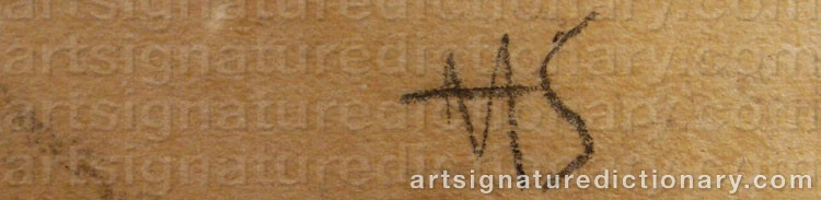 Signature by Helene SCHJERFBECK