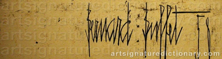Signature by Bernhard BUFFET