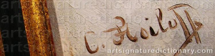 Signature by Adolf Constantin The Elder BAUMGARTNER