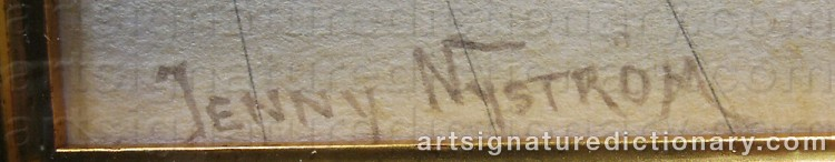 Forged signature of Jenny NYSTRÖM
