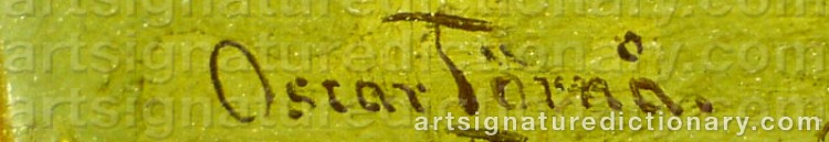 Signature by Oscar TÖRNÅ