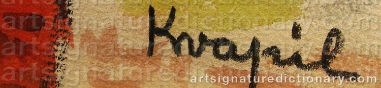 Signature by Charles KVAPIL