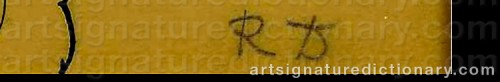 Signature by: DUFY, Raoul