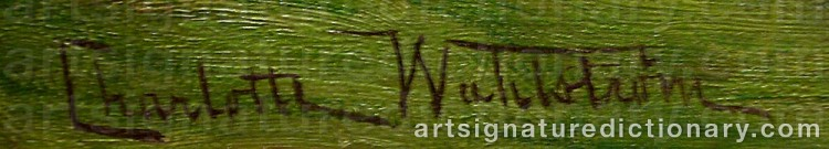 Signature by Charlotte WAHLSTRÖM