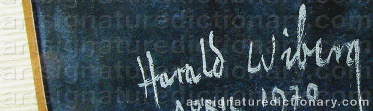 Signature by Harald WIBERG